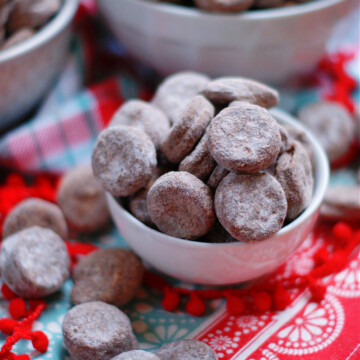 Ritz Bits Muddy Buddies Snack combines the classic flavors of peanut butter and chocolate
