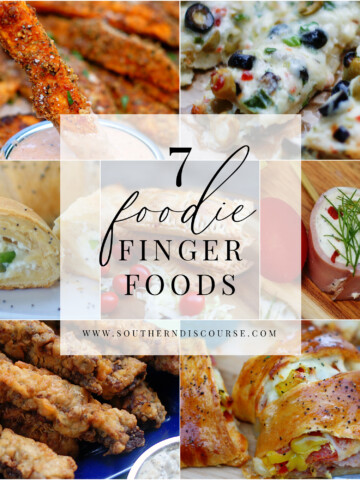 7 delicious finger food recipes for appetizers, parties, buffets, game days or family fun nights.