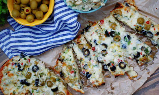 Easy Stuffed Olive Cheese Bread