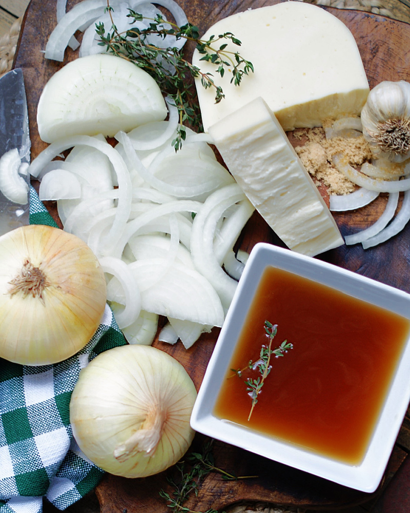Simple French Onion Soup Ingredients