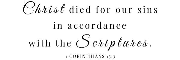 Biscuit beignets scripture 1 Corinthians 15:3