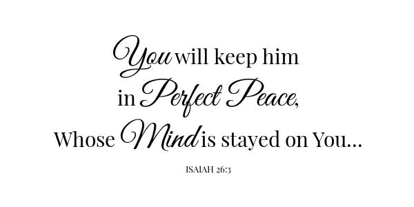 Rice pudding scripture Isaiah 26:3