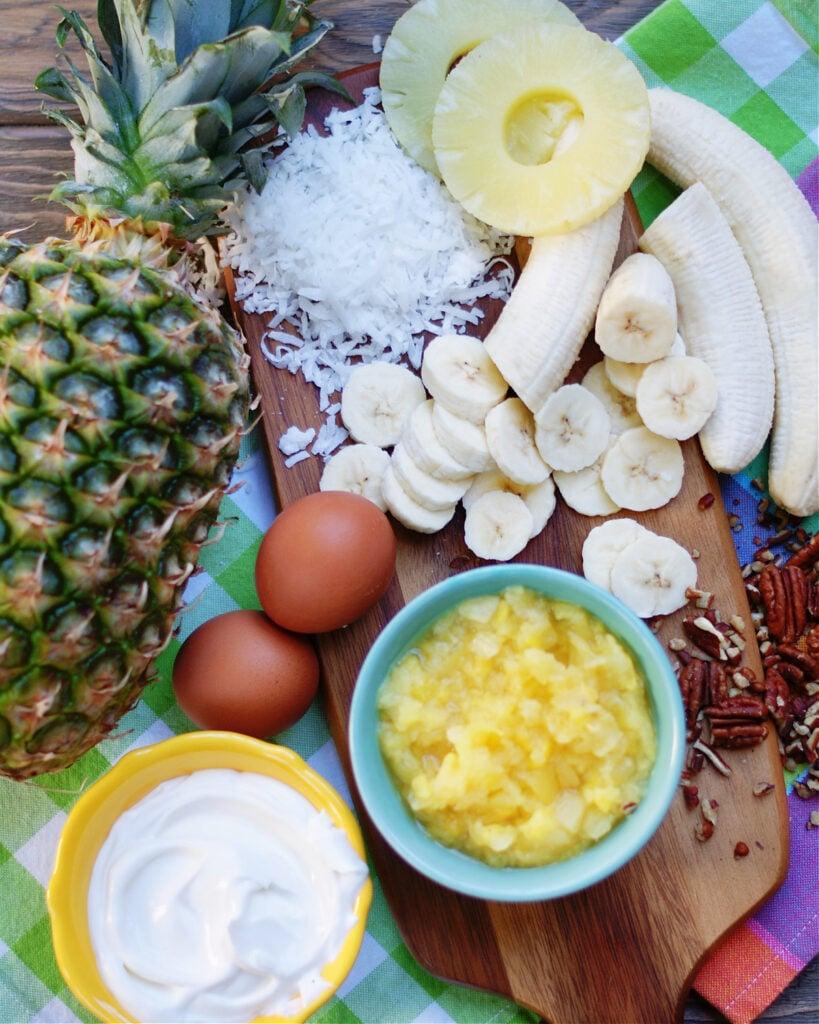 HUmmingbird Banana Bread Ingredients