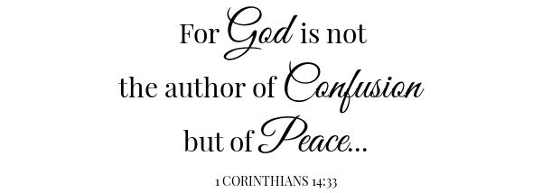 HUmmingbird Bread Scripture 1 Corinthians 14:33
