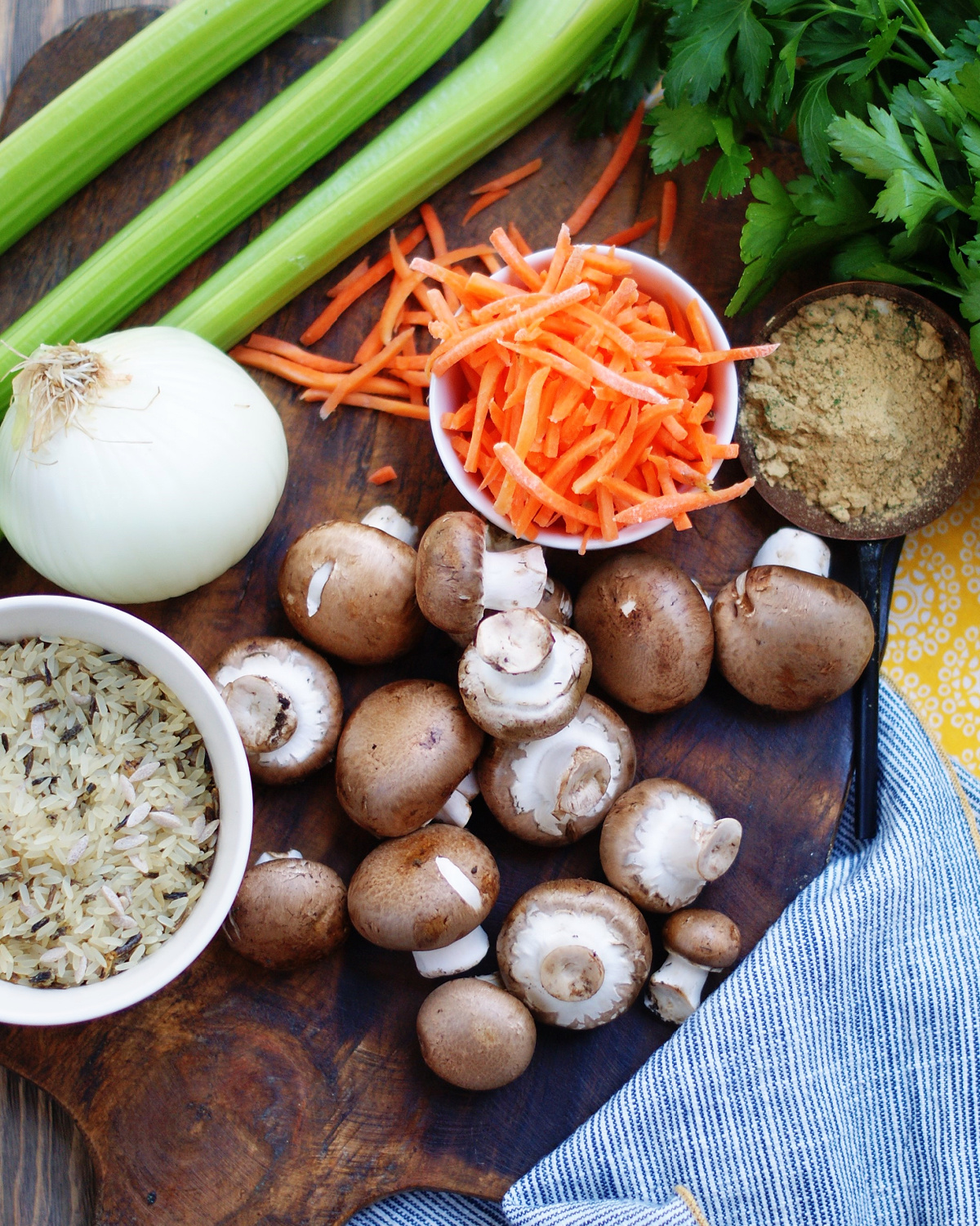 Ingredients for Creamy Chicken and Wild Rice