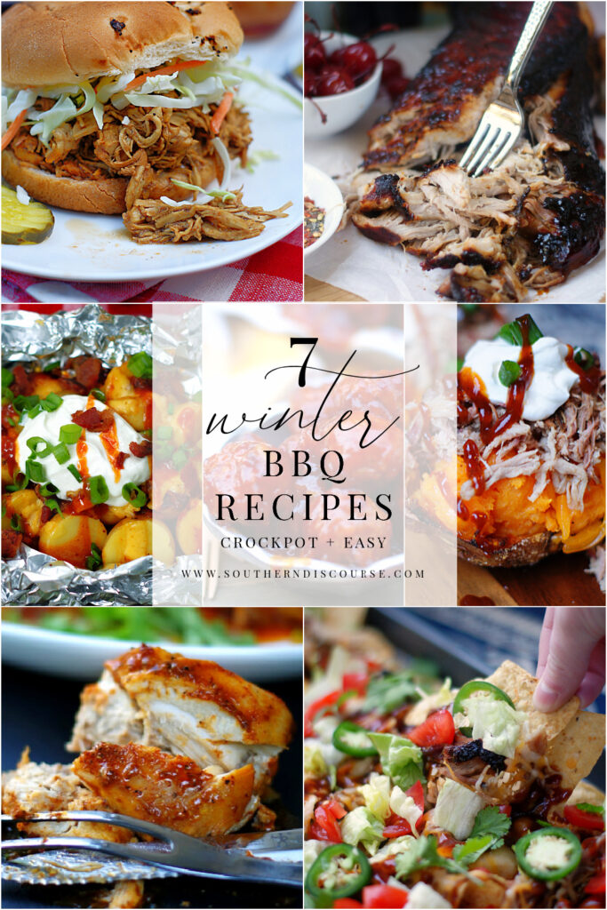 7 winter BBQ dishes you can enjoy right now. Easy kitchen or crock pot recipes that whip up delicious BBQ recipes you can enjoy all year long.