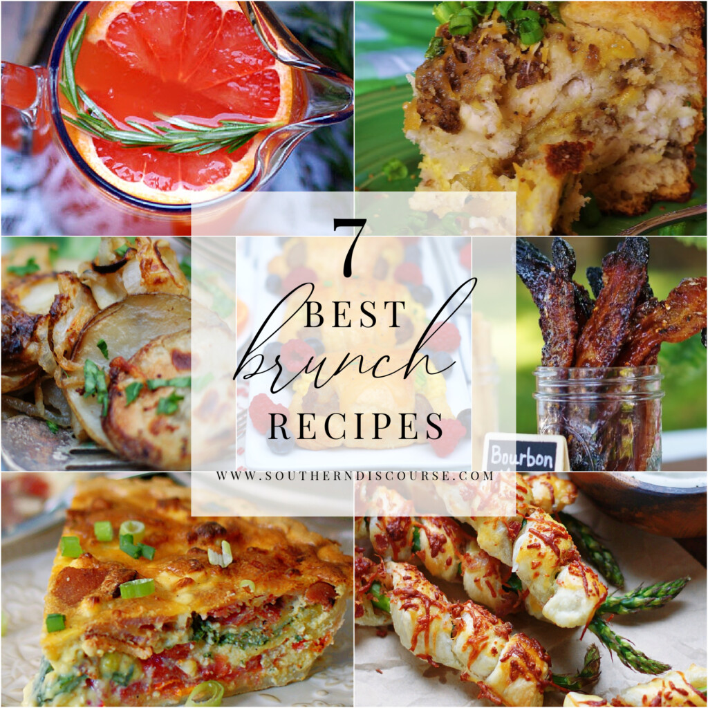 7 brunch recipes- from potatoes to punch, quiche, breads and more!