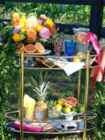easy party entertaining with a non alcoholic bar cart