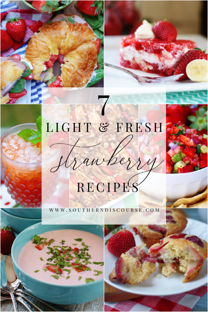 From breakfast to dessert, these 7 light and fresh strawberry recipes create easy and delightful dishes that everyone loves.  Easy answers to what to do with all those strawberries during berry season!