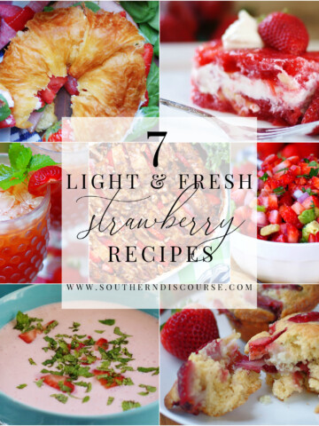 7 fresh & easy strawberry recipes, from breakfast to dessert.
