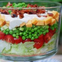 7 layer pea salad
