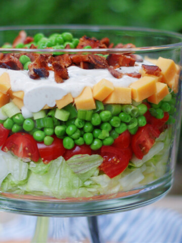 7 layer pea salad