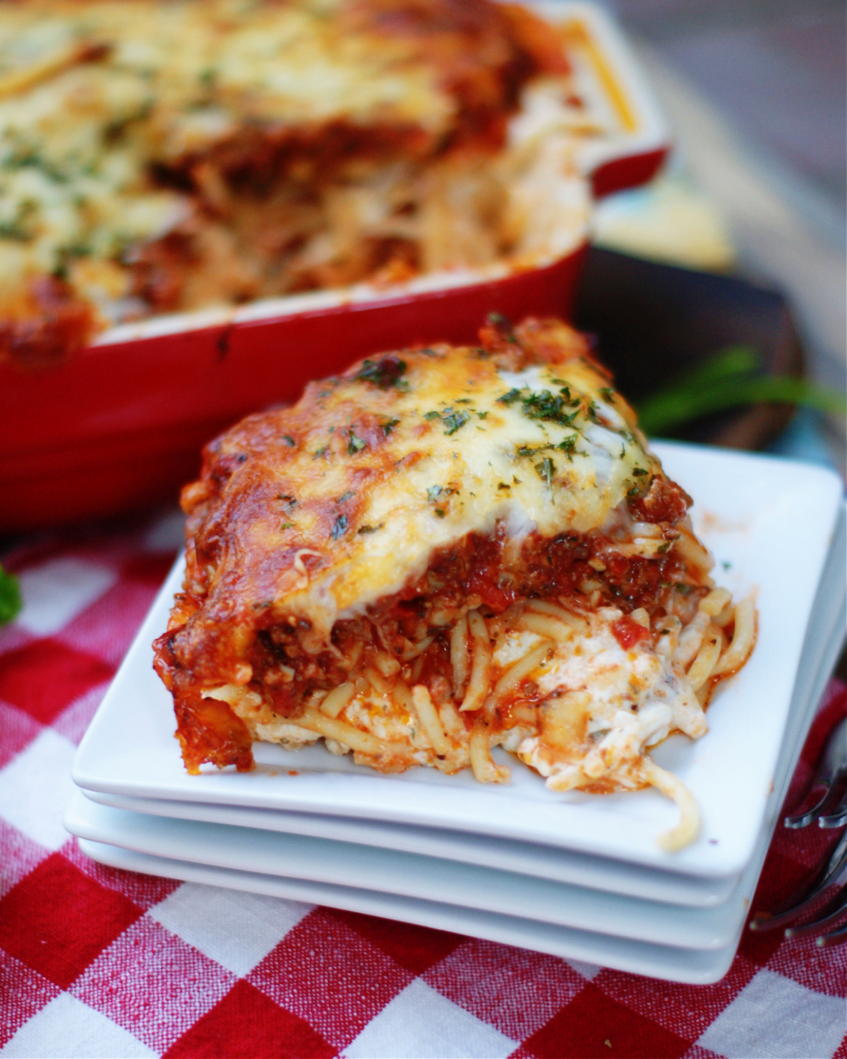 How to serve Ultimate Baked Spaghetti Casserole