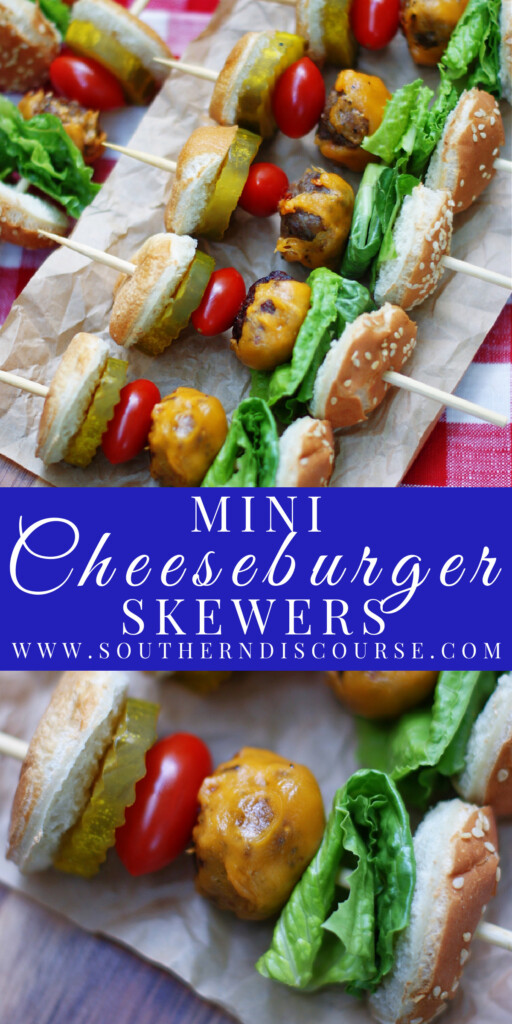Party with fun, bite-sized mini cheeseburgers on a stick! Juicy & delicious, these little kabobs have everything you love about your favorite burger in just a bite or two.