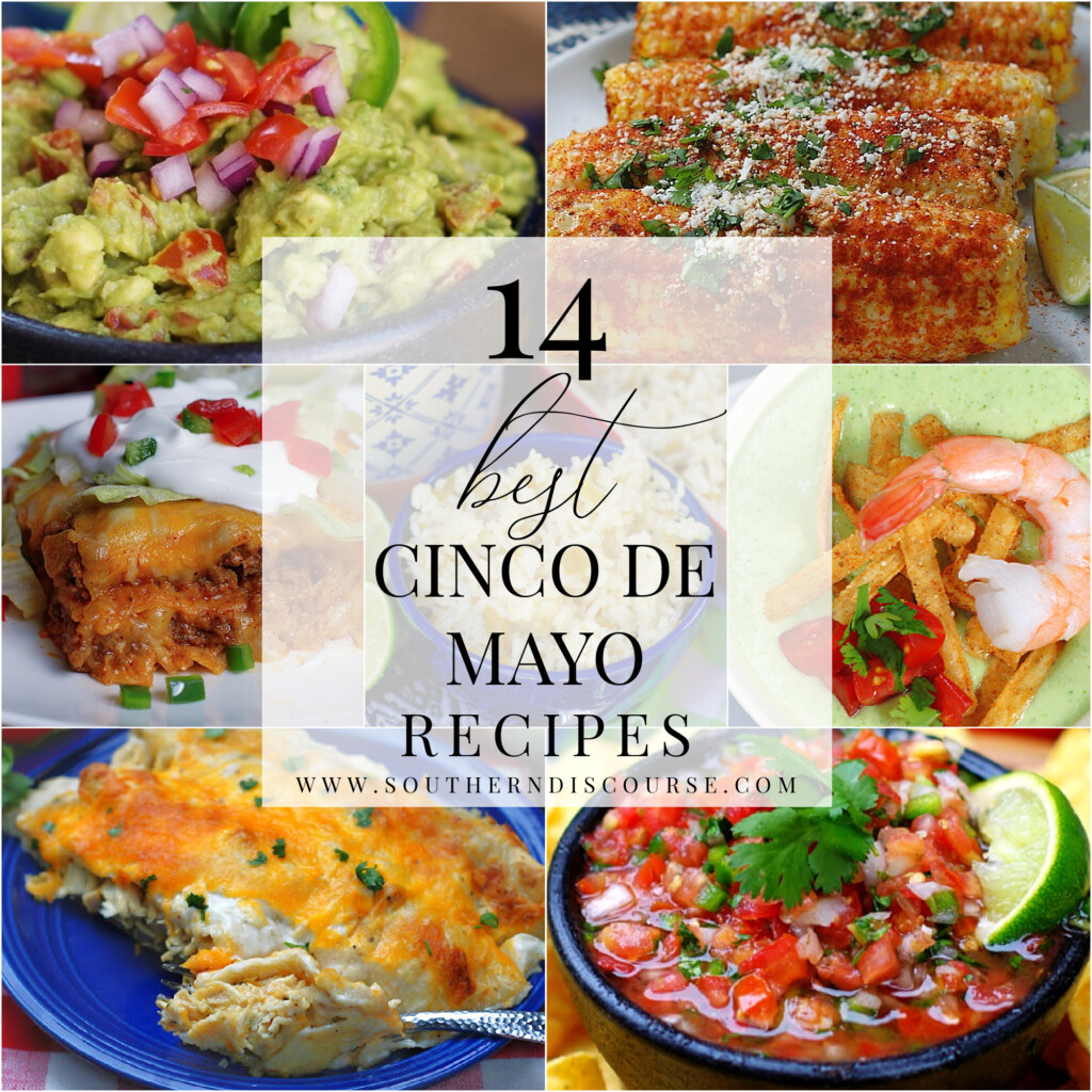 14 recipes to create your own Cinco de Mayo fiesta!  From fresh to salsa to Tex Mex guacamole, enchiladas, sides dishes and soups, you won't have to look any further for all the best dishes!