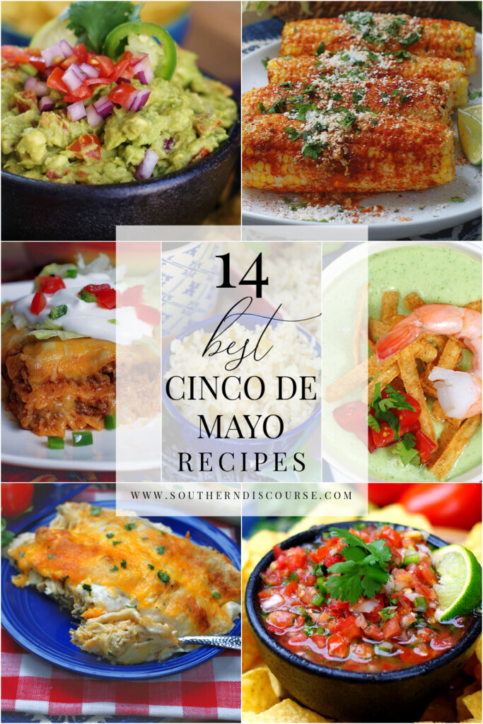 14 recipes to create your own Cinco de Mayo fiesta! From fresh to salsa to Tex Mex guacamole, enchiladas, tacos, side dishes and soups, you won't have to look any further for all the best dishes!