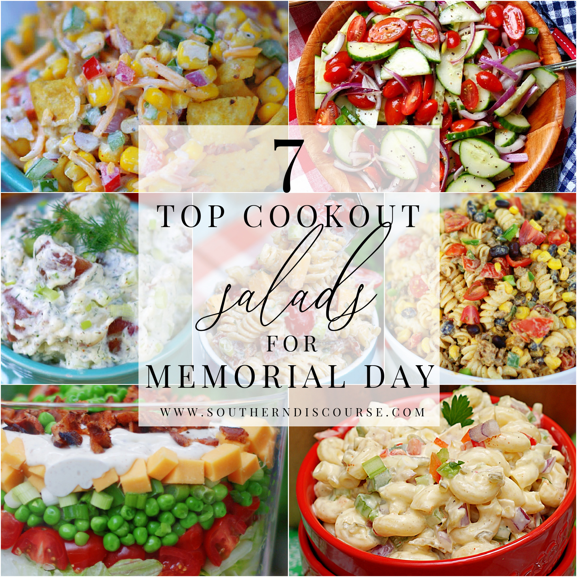 7 easy classic cookout salads for your memorial day celebration.