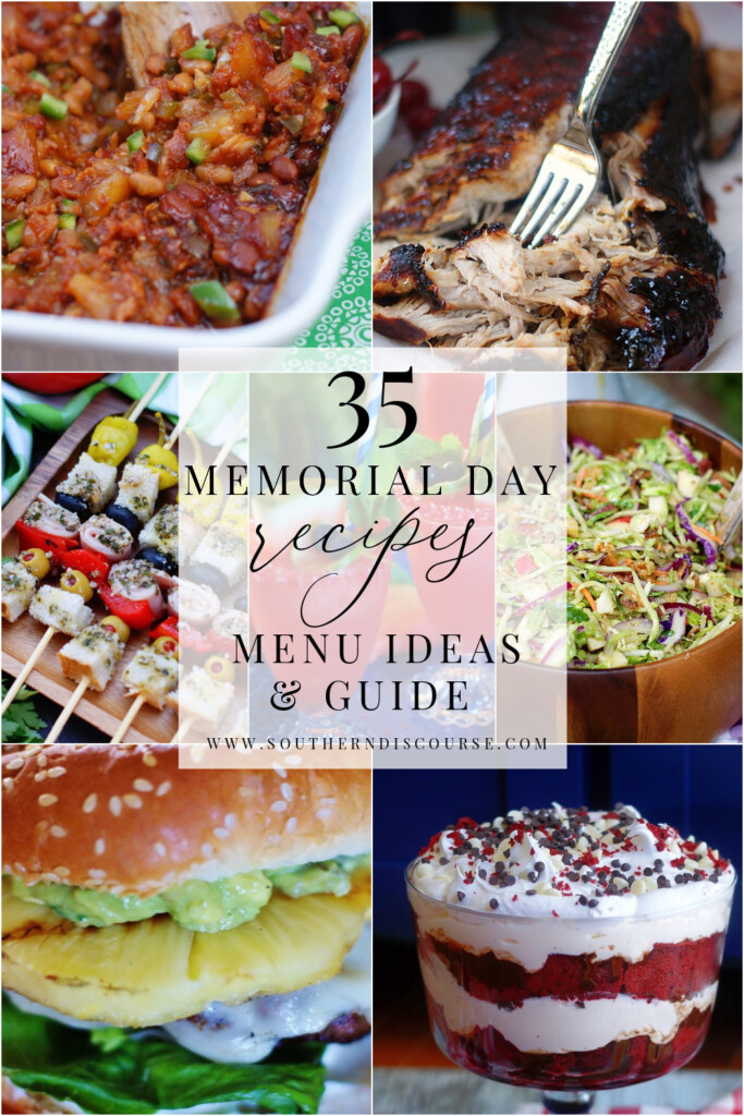 35 Memorial Day recipes to plan the perfect cookout menu plus tips for preparing and hosting outdoors!