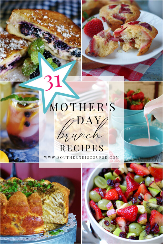 From breakfast casseroles to salads, hummingbird bread, muffins, quiches, fruit pizzas, even a coffee punch, these 31 recipes are sure to make planning and serving a spectacular brunch to celebrate Mom a breeze this year!