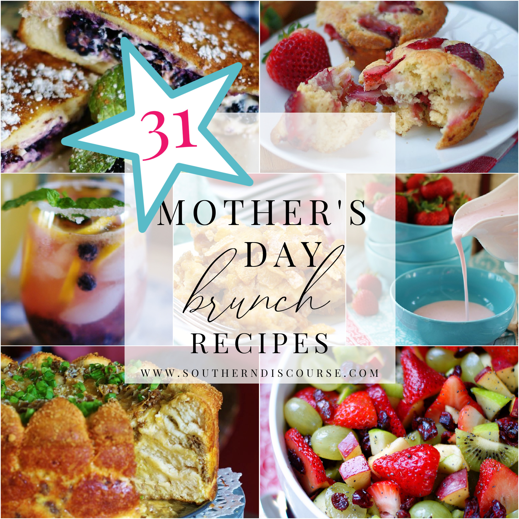 mothers day brunch recipes - breakfast casseroles, salads, drinks, breads, fruit pizzas and more!