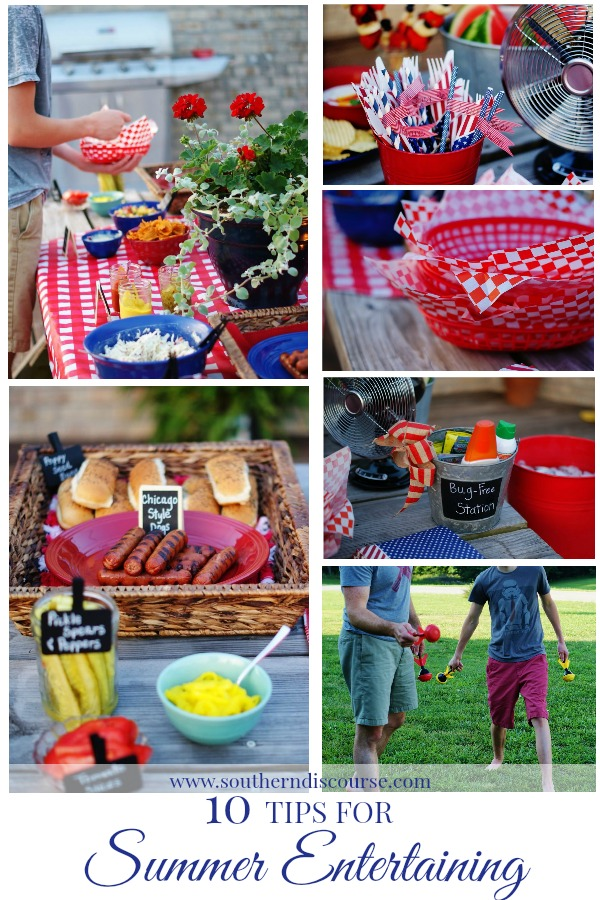 10 tips fomr summer entertaining to help with Memorial Day planning