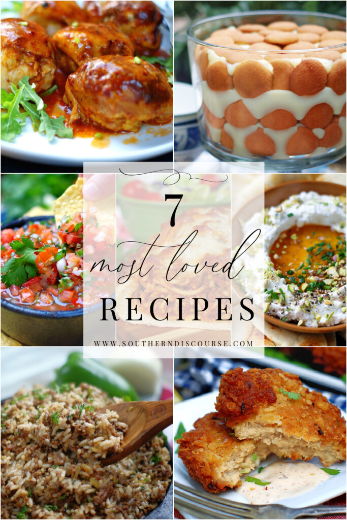 Top reader favorite recipes. Recipes our top fans love and make again and again! From new recipes like Southern Banana Pudding from scratch to old favorites like Louisiana Dirty Rice, salsa, whipped feta, salmon patties, spaghetti stuffed garlic bread and more.