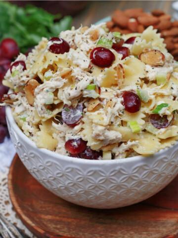 How to serve Waldorf Pasta Chicken Salad