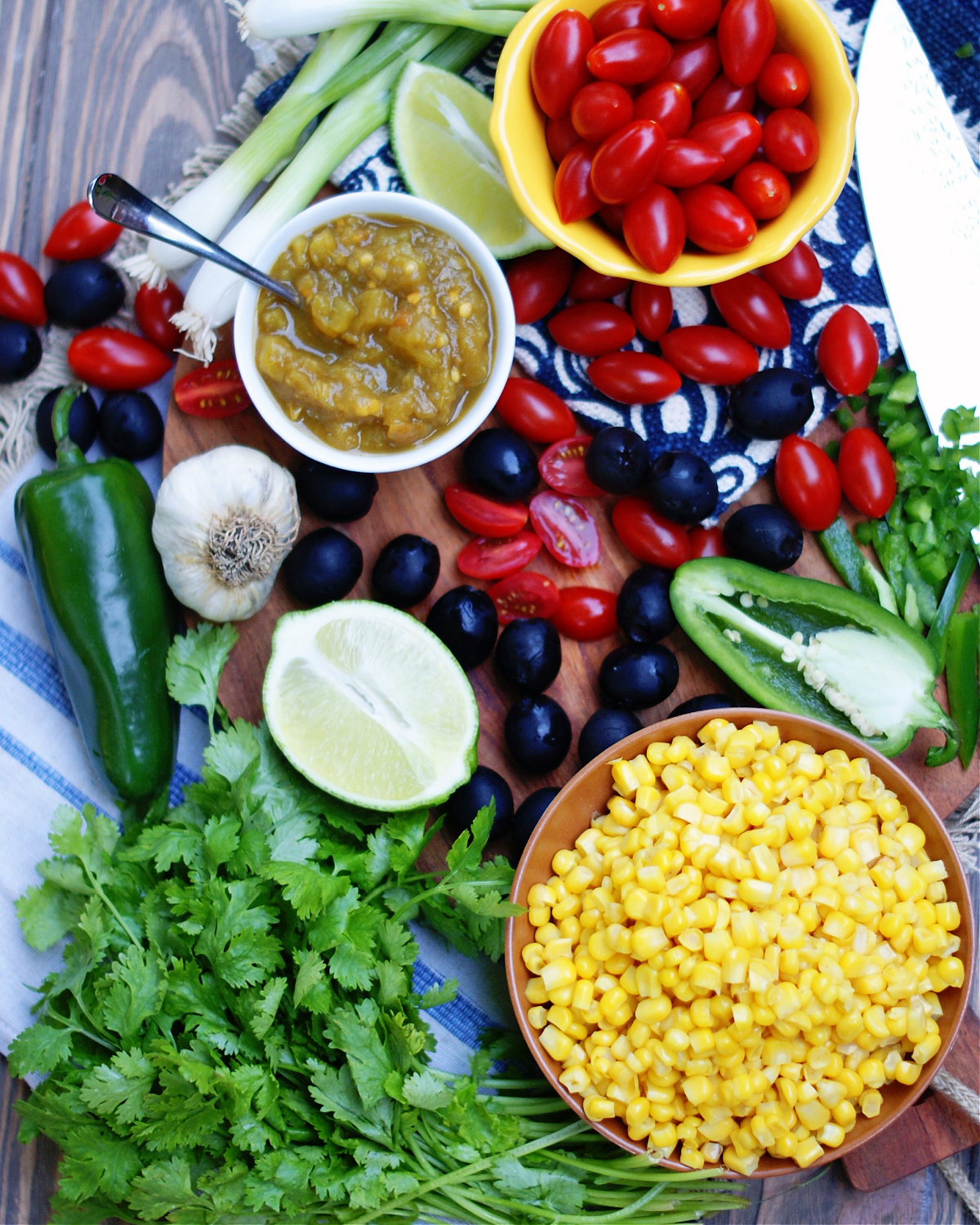 what's in green chile corn salsa