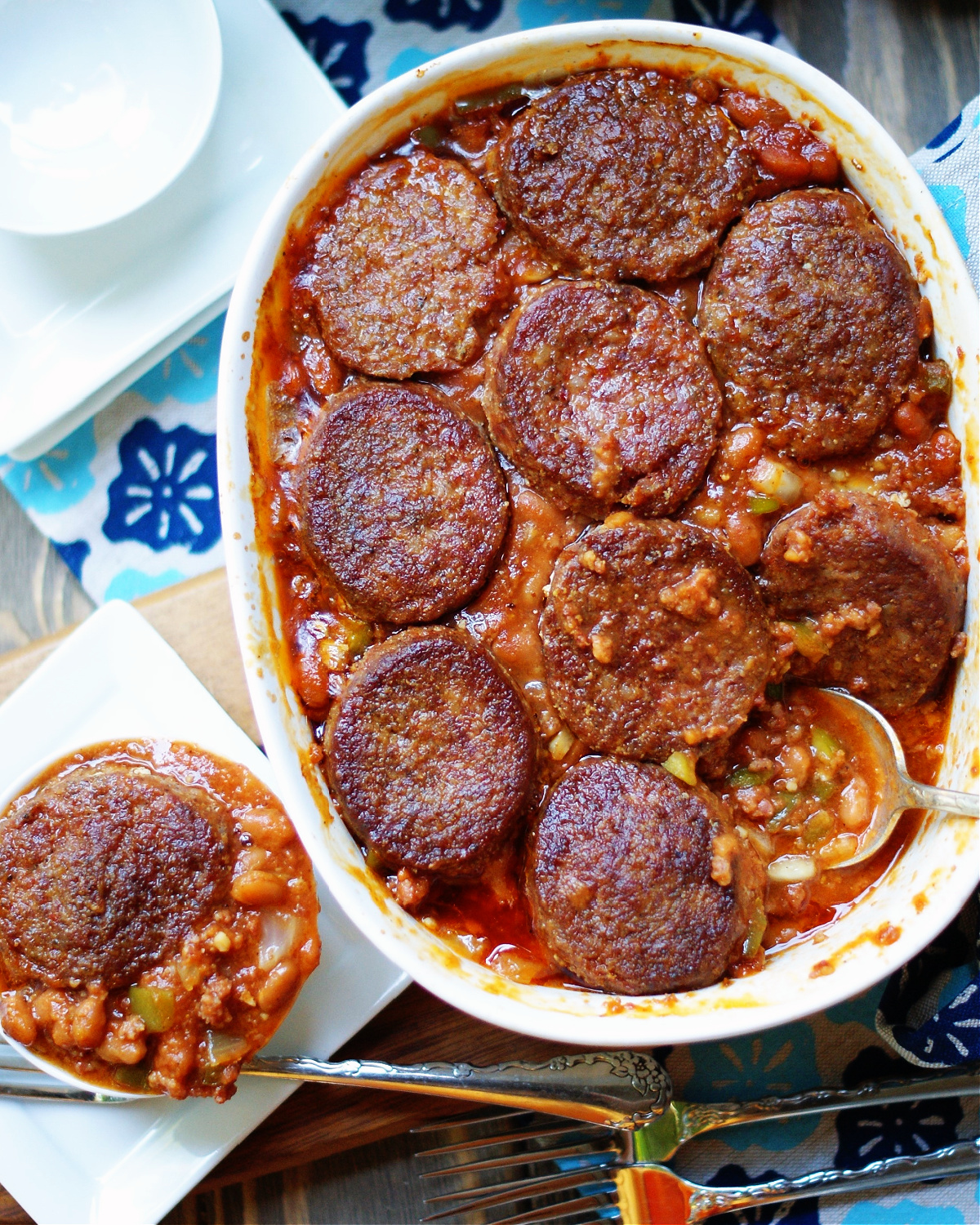 baked beans and ground sausage baked beans recipe