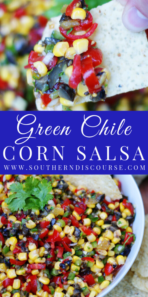 Sweet corn, green chiles, summer ripe tomatoes, black olives, cilantro and lime are tossed together to make a fresh, summery fiesta that perfect as a dip with tortilla chips or as a topping for your grill or Tex Mex favorites.
