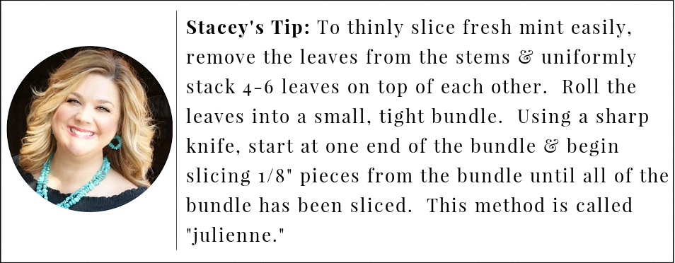 watermelon salad tip for slicing mint