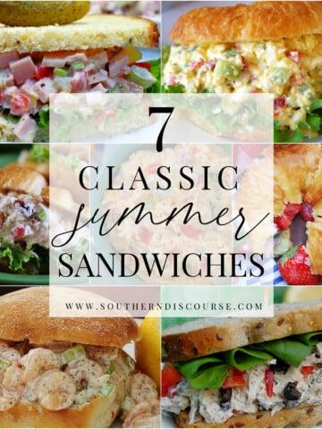 summer sandwiches title collage