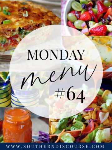 Monday Menu 64 title collage