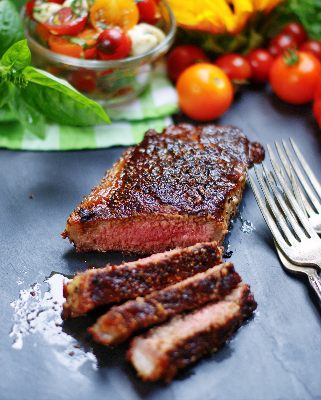 steak for serving caprese salad