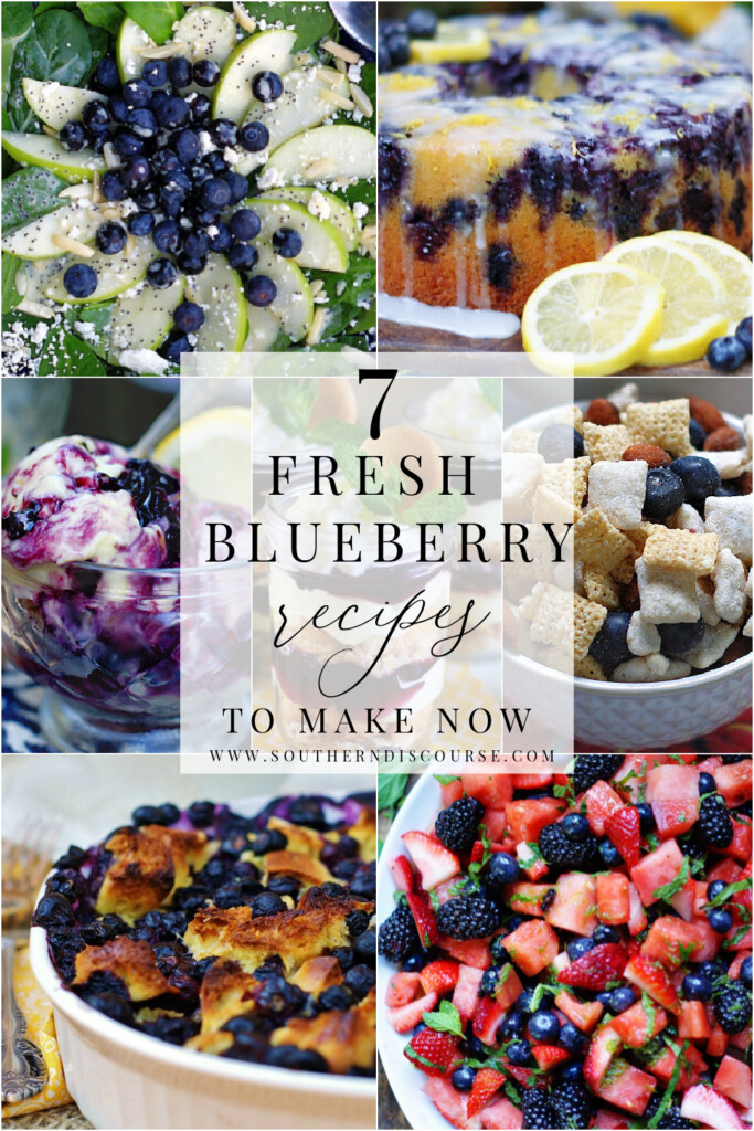 7 fresh blueberry recipes to make this summer!  From blueberry pound cake to ice cream, to breakfast bakes to salads, plump fresh blueberries can do it all.