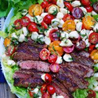Caprese Salad Recipe with Steak