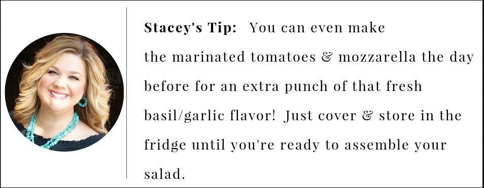 steak caprese salad pro tip