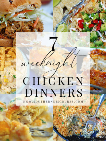 7 weeknight dinner recipes title collage