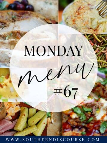 Monday Menu 67 Title Collage