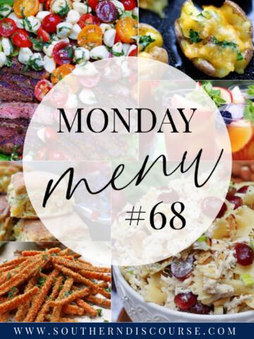 Monday Menu 68 title collage