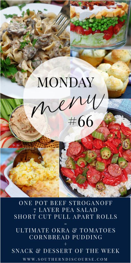 Monday Menu 66 Pinterest PIN