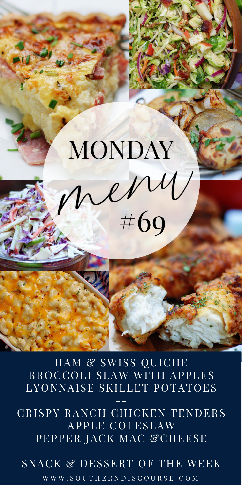 2 Menus to help you plan your week + snack ideas, dessert of the week and breakfast inspiration!  Monday Menu does it all!