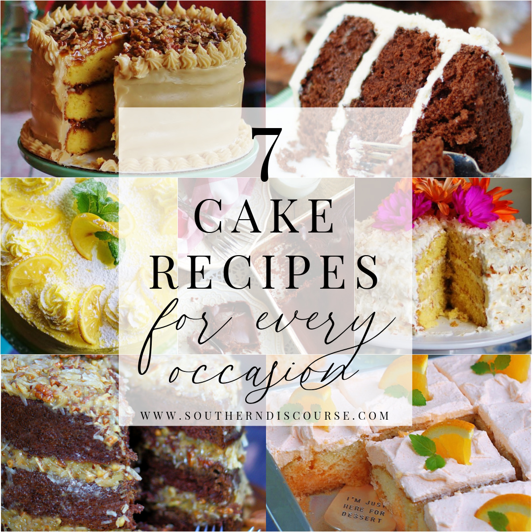 7 cakes recipes for every occasion title collage