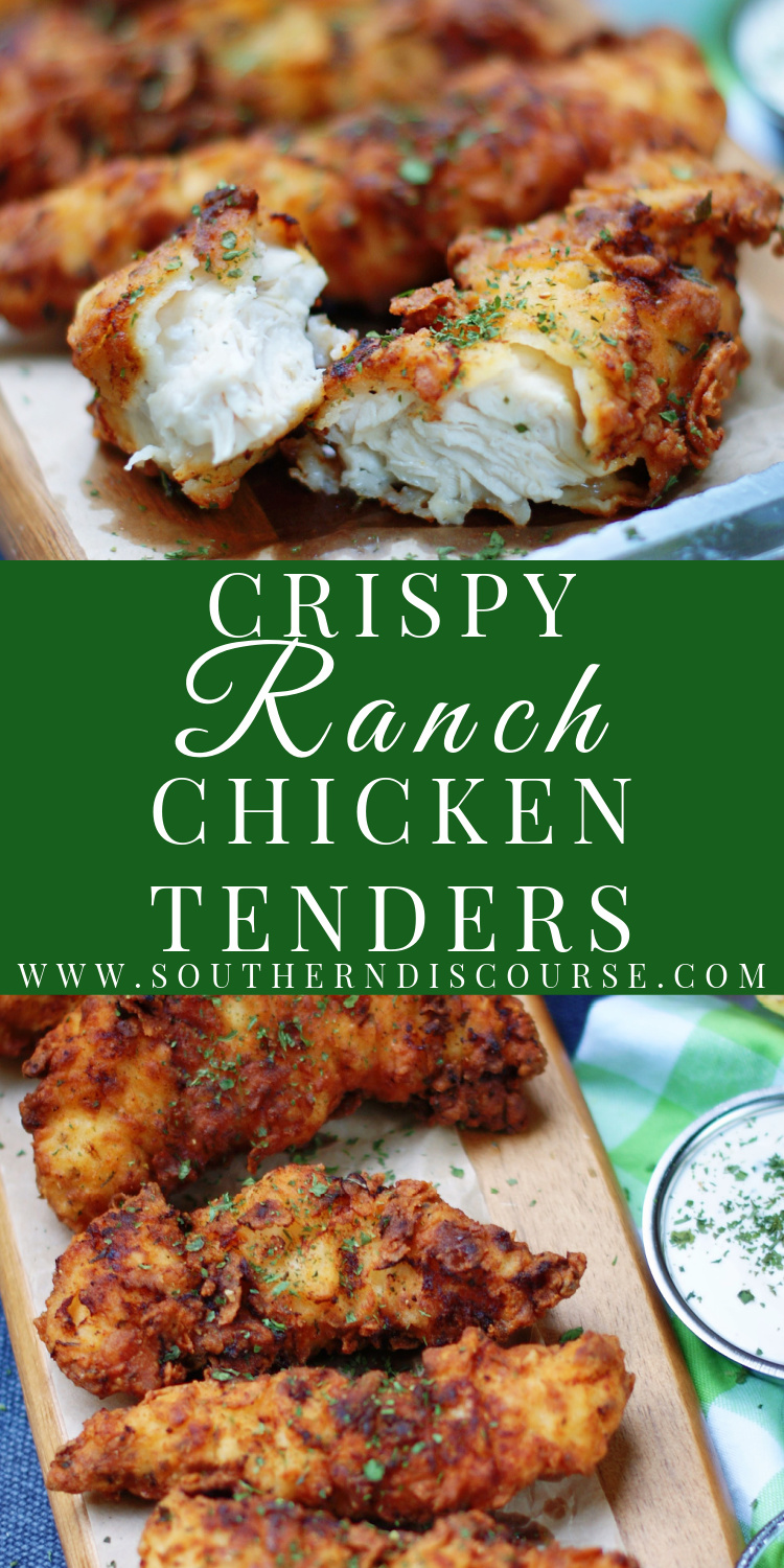 If seriously tasty chicken strips are your thing, then Crispy Ranch Chicken Tenders are for you!  Loaded with all the flavor of buttermilk and Ranch seasoning, these chicken tenders are bound to become your favorite easy fried chicken recipe.