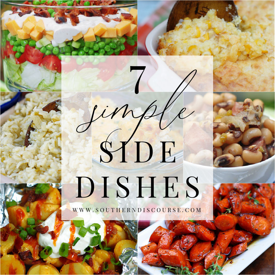 side dish round up collage