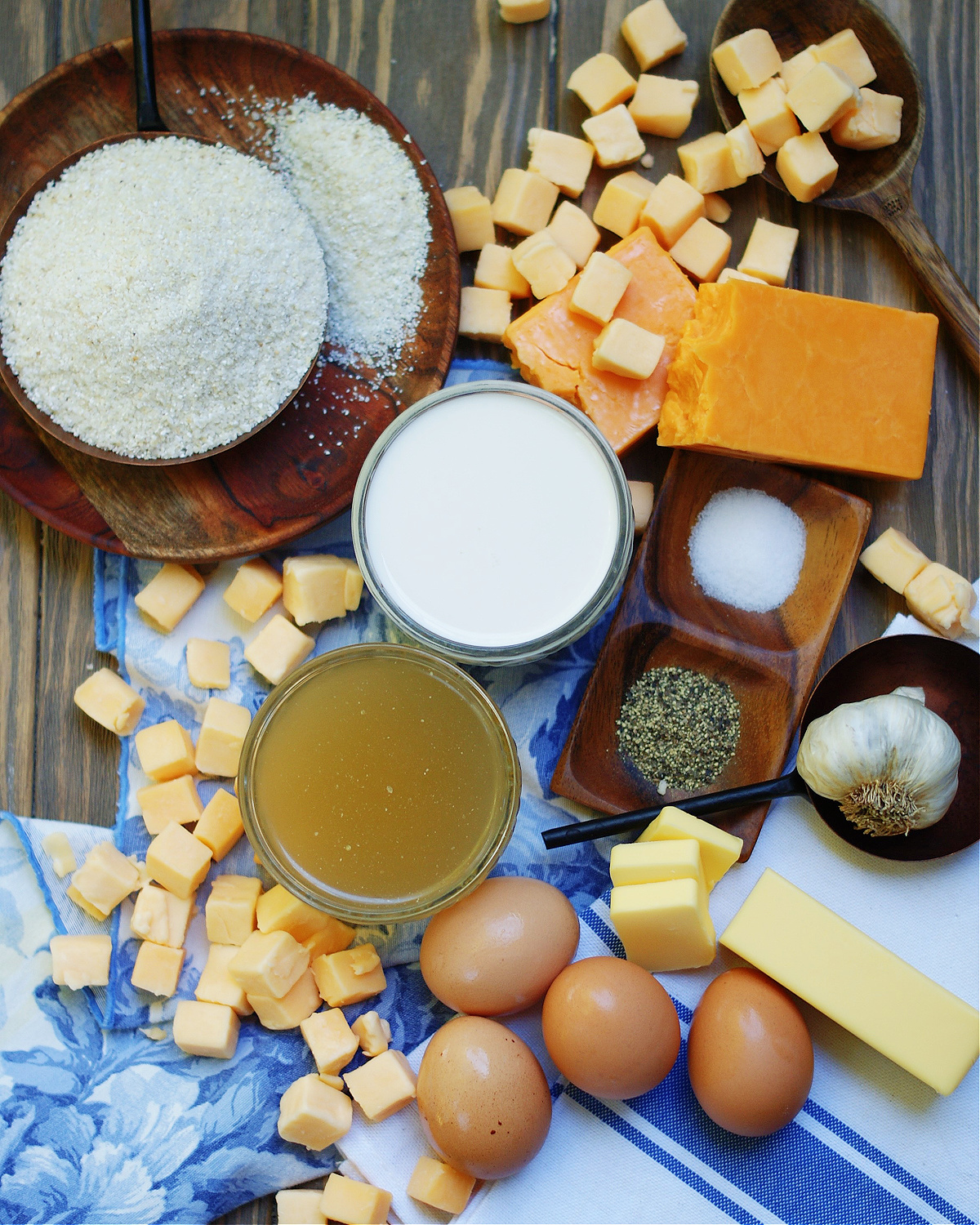 Ingredients for Baked Gouda Cheese Grits