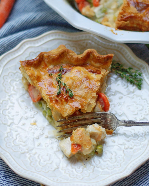 How to serve chicken pot pie