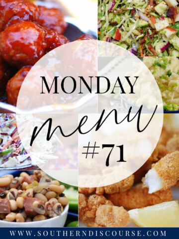 Monday Menu #71 Title Collage