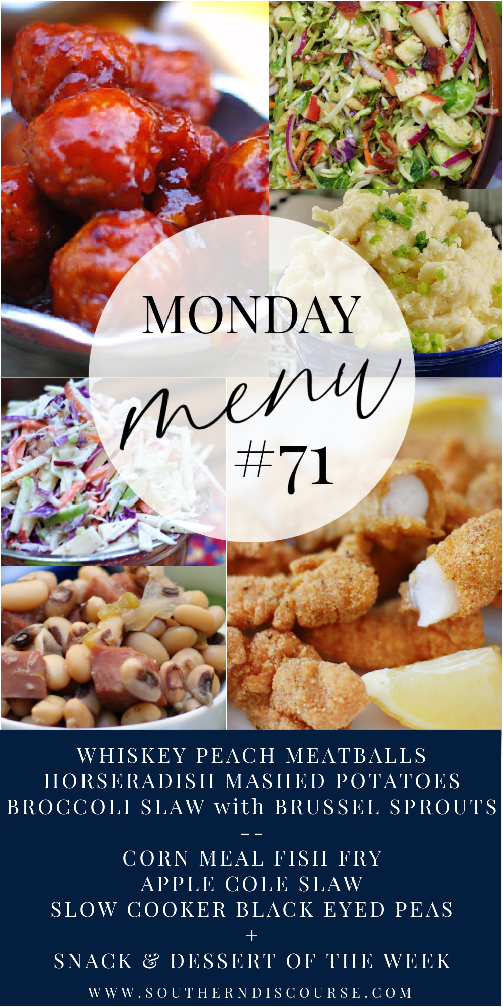 2 menus, 6 recipes, dessert, snack and family breakfast ideas to make the week easy!