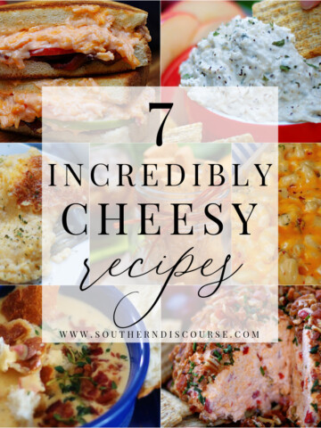 cheese recipes collage